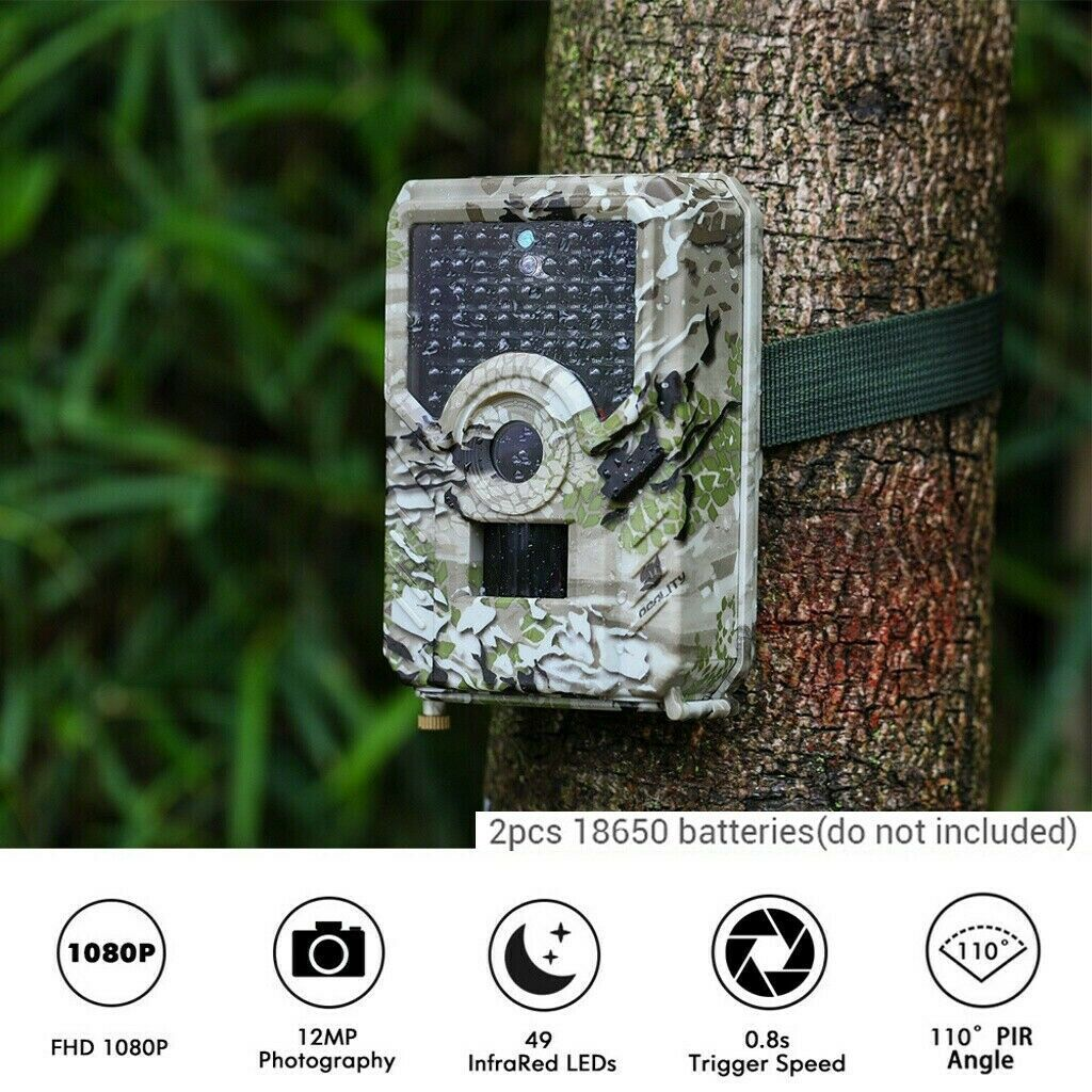 Wildkamera Jagdkamera Wasserdicht Fotofalle 0.3s für Hunter 1080P 20MP IP65 DHL