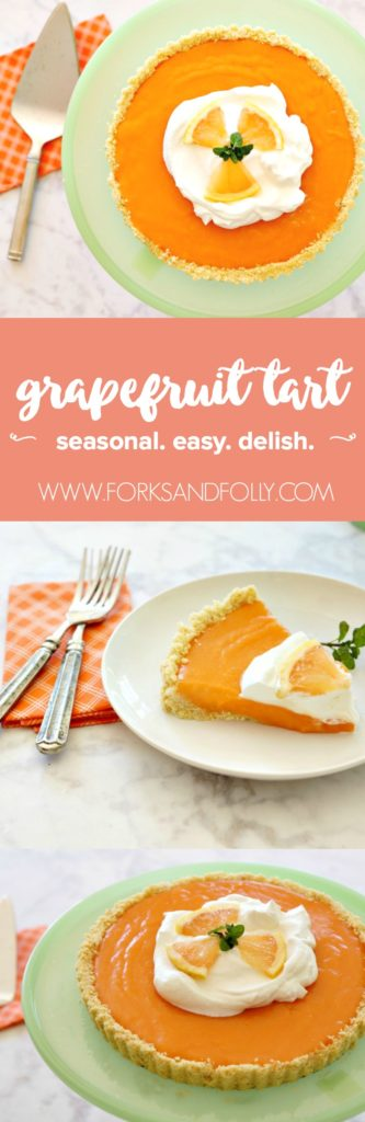 Kicking off with week one of #52weeksofsweets, we'll be making a Winter Grapefruit Tart, with a saltine cracker pie crust. Yum! Featuring World Market cake plate and flatware.