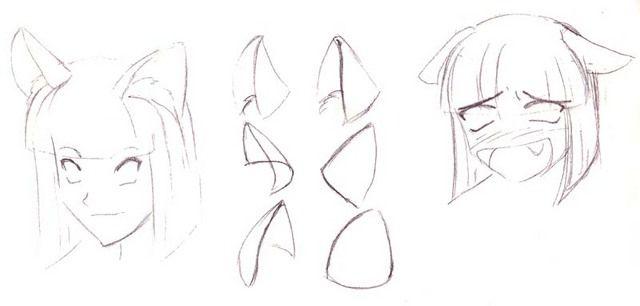 How To Manga Anime Cat Ears Fairy Drawings Animal Drawings