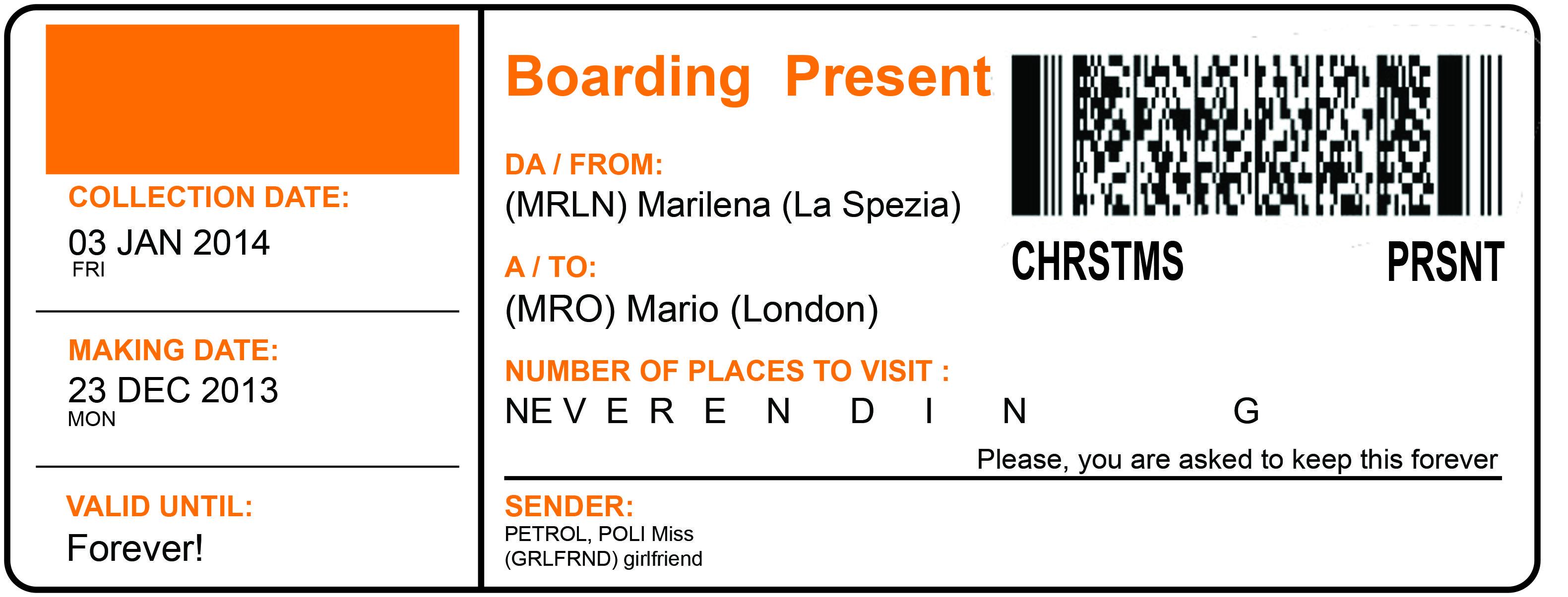 boarding present