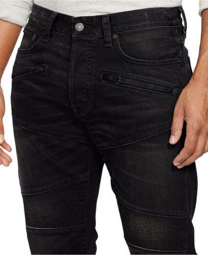 35c912aa Denim & Supply Ralph Lauren Men Slim Vintage Black Moto Biker Jeans ...
