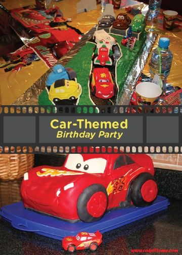 Race into birthday party fun with these spectacular carthemed