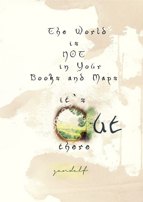 Lord Of The Rings Travel Quotes: LOTR Gandalf Quote Hand Made Special Wall Art Poster