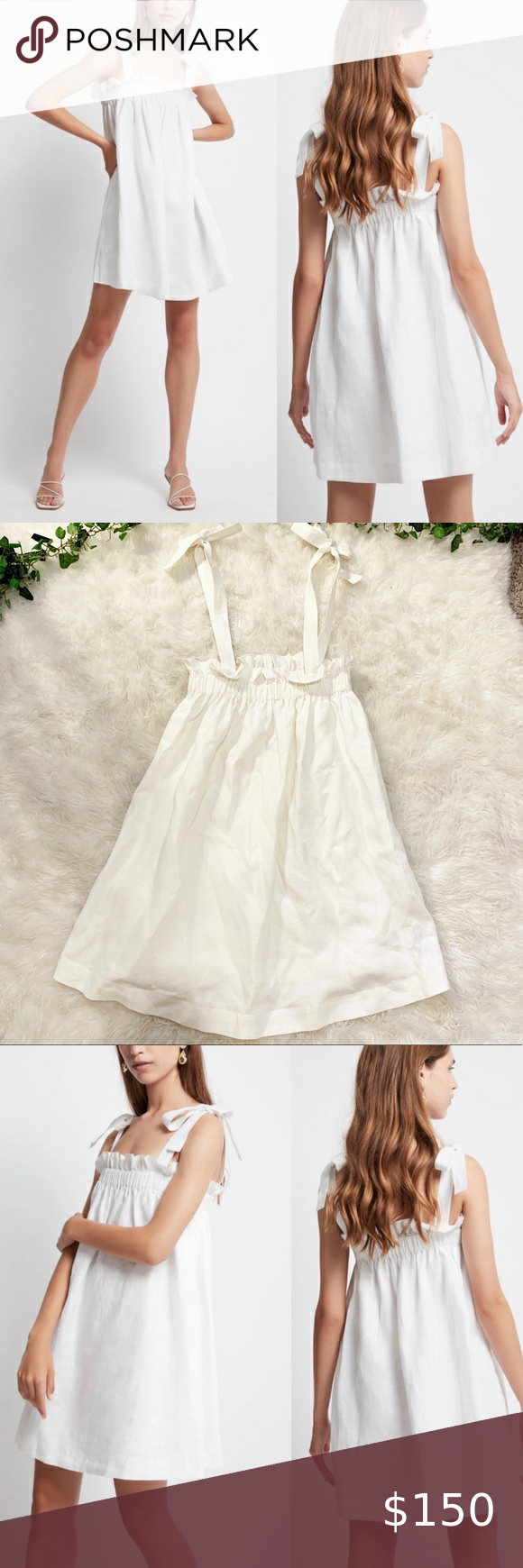 Aje Allegro Gathered Tiered Mini Dress White Linen A Cute Mini Dress From The Brand Aje This Dress Is 100 Linen With A Ga White Mini Dress Mini Dress Dresses [ 1740 x 580 Pixel ]