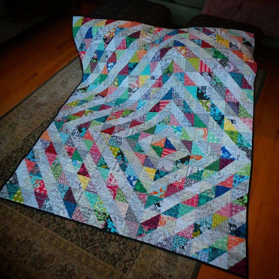 Just Finished Binding And On A Drab Grey Day This Quilt