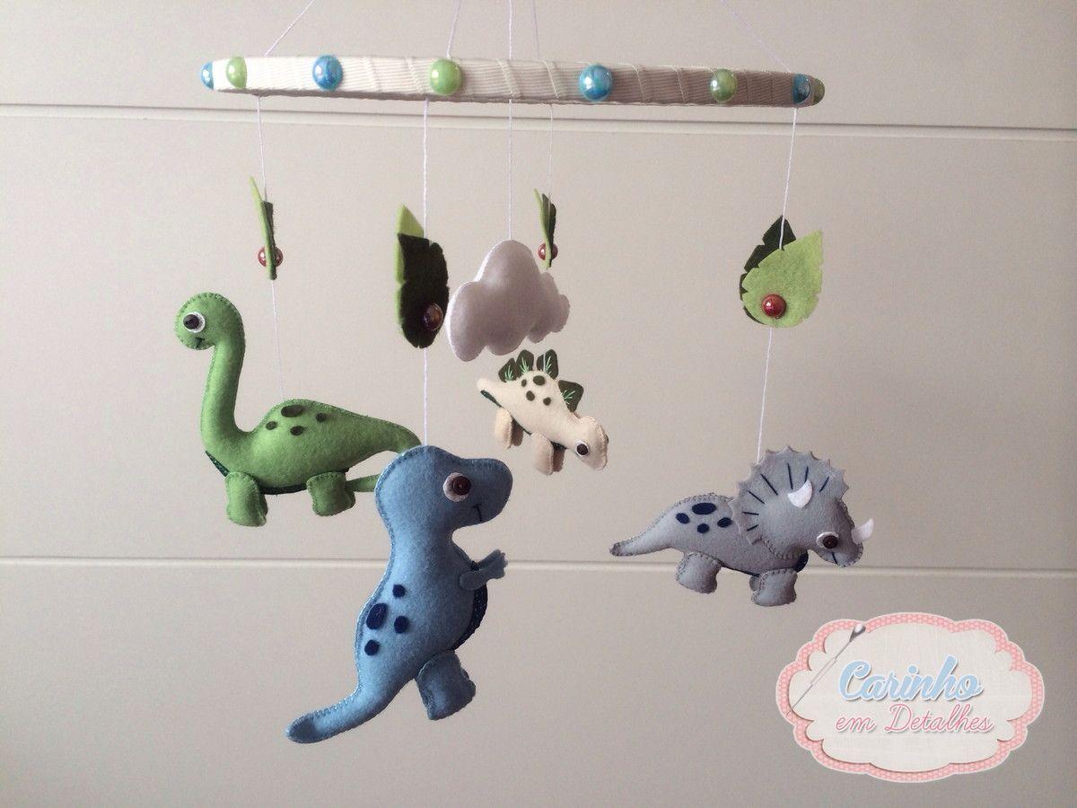 7325fcd27a7d77 Móbile de dinossauro para decoração de quarto infantil. Podem ser ...