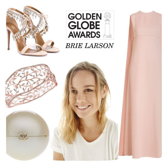 """""""Untitled #364"""" by vintageandmore ❤ liked on Polyvore featuring Valentino, Aquazzura, Chanel, Effy Jewelry, GoldenGlobes and brielarson"""