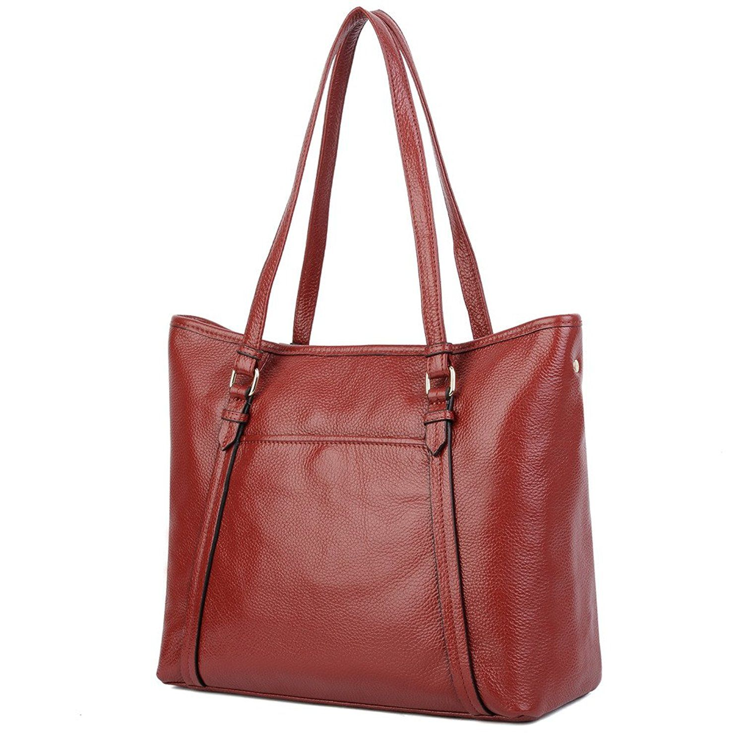 1933614b0b YALUXE Women s Soft Leather Cowhide Leather Tote Shoulder Bag ...