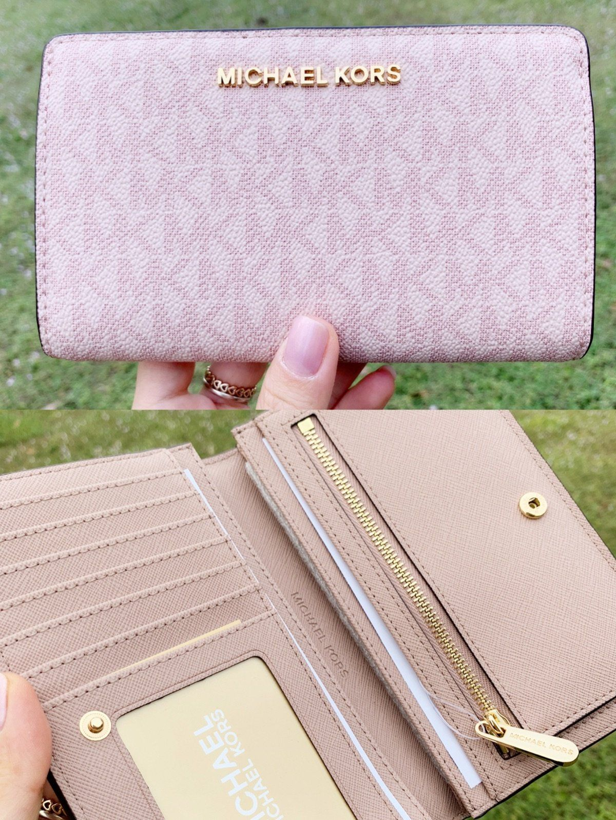 a53bfeeaae Michael Kors Jet Set Travel PVC Slim Bifold Wallet Fawn MK Ballet Pink  #poshfashion #rated #poshpackages #GabysBags #mercariapp #ebaystore  #topratedseller ...