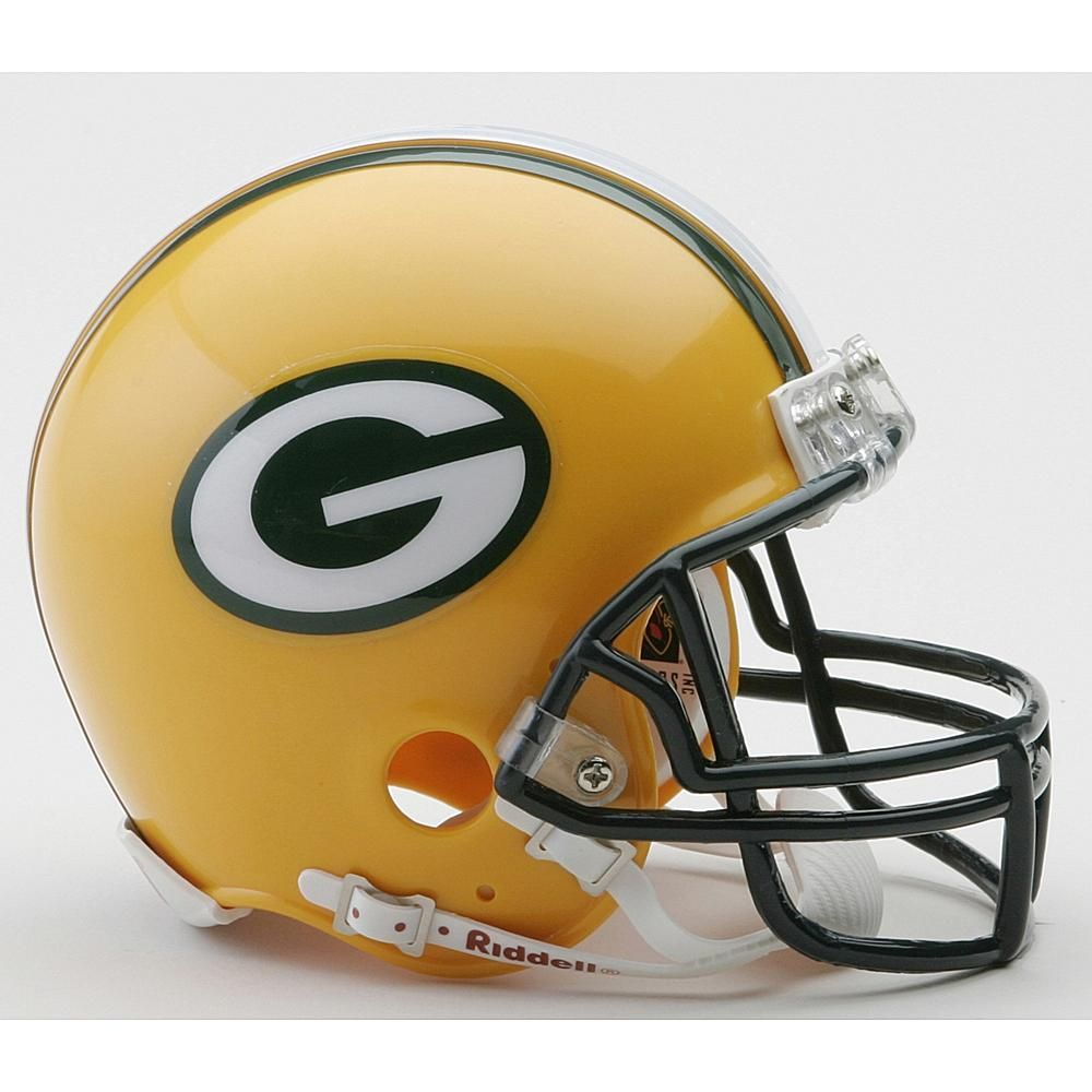 Riddell Green Bay Packers Replica Mini Helmet With Z2b Mask Nfl Football Helmets Green Bay Packers Helmet Football Helmets