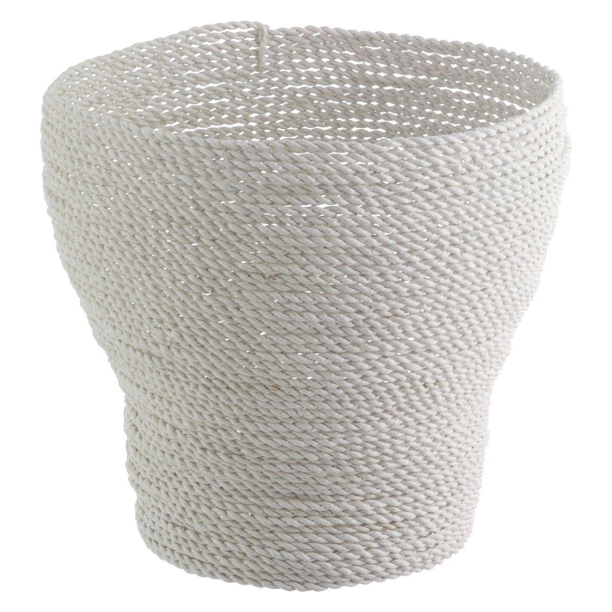 MORELL White Woven Plastic Storage Basket