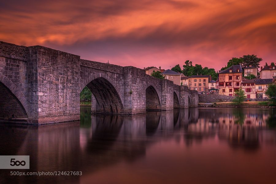 Fire sunset - Pinned by Mak Khalaf Limoges france City and Architecture Sunsetarchitecturebluecitycloudsfrancehaute-viennelimogeslimousinnightriverskystreetsunsettravelwater by billbaroud87