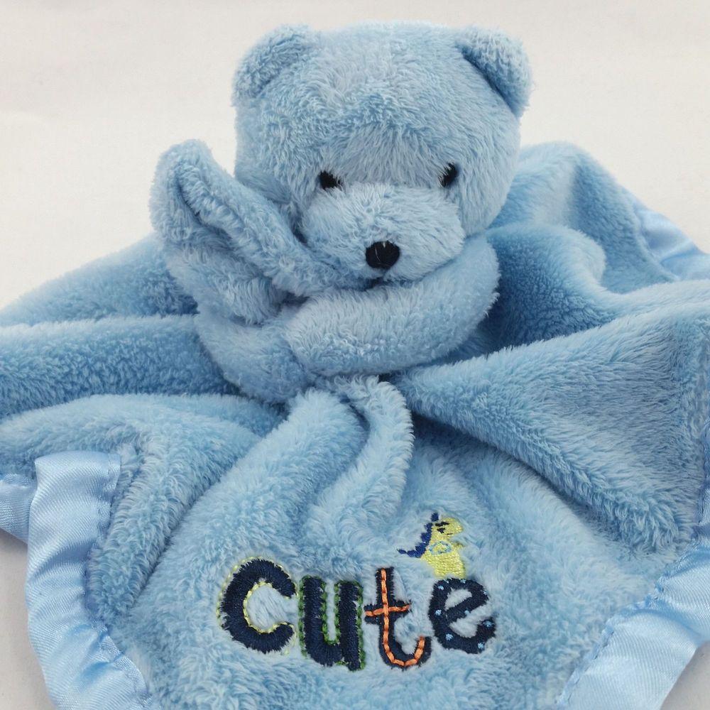 Gerber Blue Bear Cute Lovey Security Blanket Baby Infant