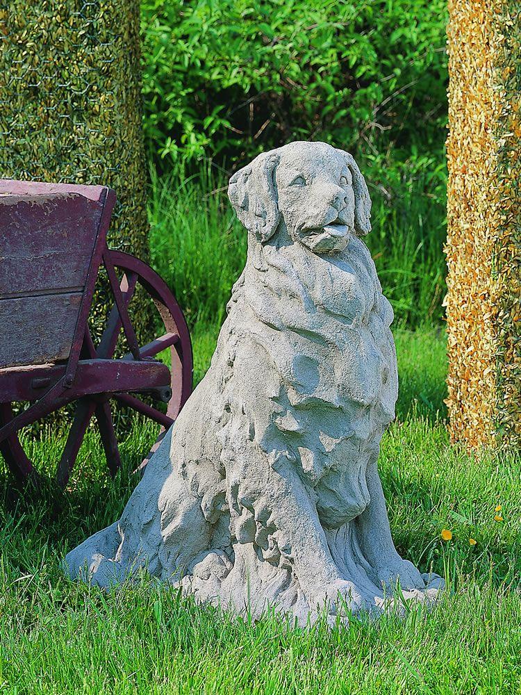 Golden Retriever Garden Statue
