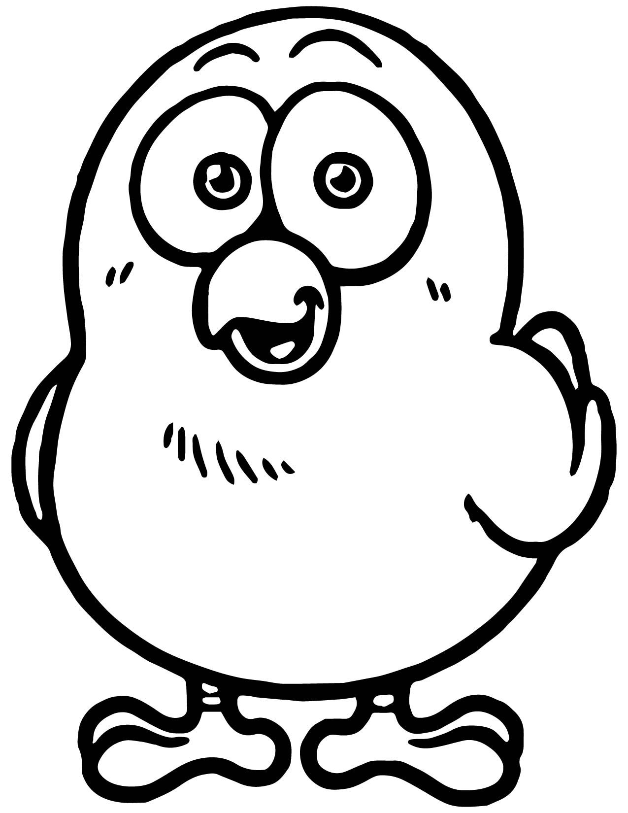 Awesome Cartoon Cute Chicken Coloring Page Chicken Coloring