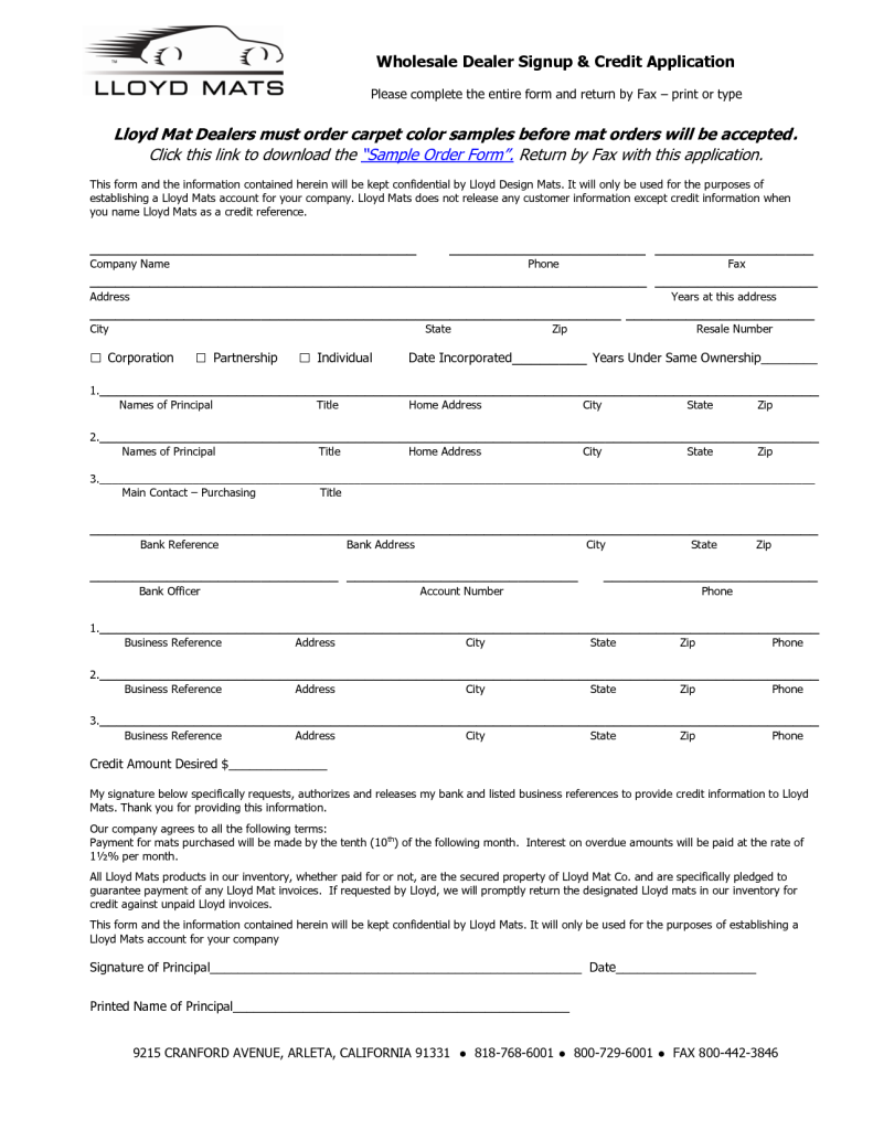 Registration Of Wholesale Car Dealer License And Credit Application Download Photos Of Wholesale Car Sample Business Plan Application Download Application Form