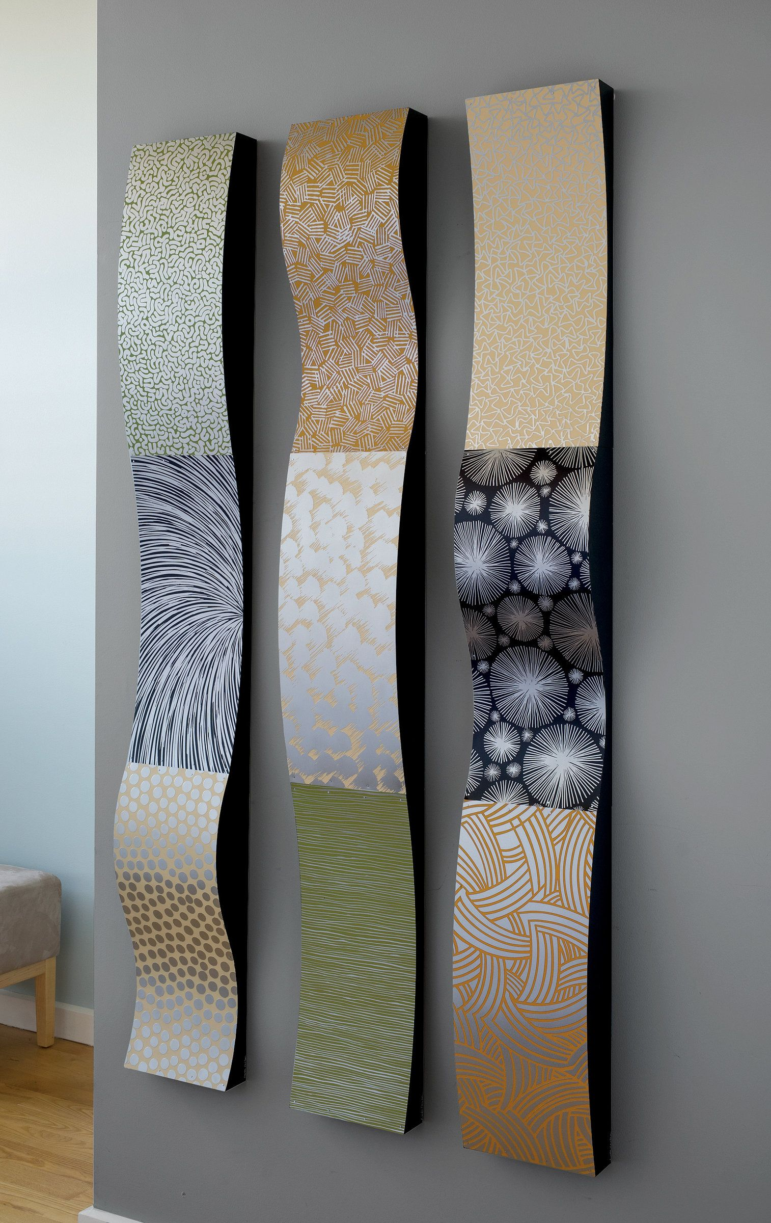 Stainless Steel Wall Ribbons By Linda Leviton Metal