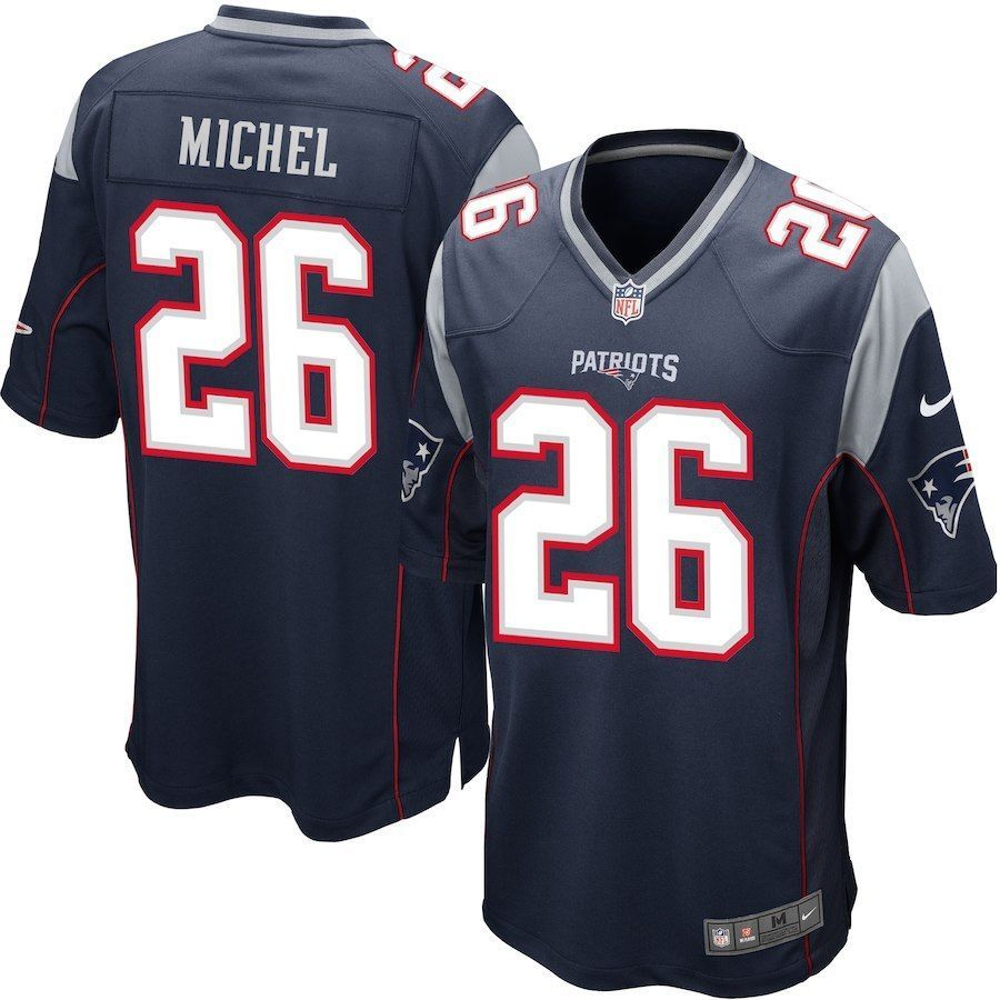 New England Patriots Sony Michel Navy Jersey 3xl Sz Fashion Clothing Shoes Accessories Mensclothing Othermenscl Mens Outfits New England Patriots Jersey