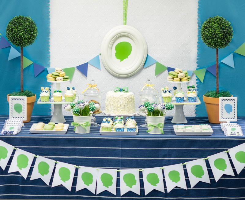 Color scheme Noah Birthdays Pinterest Dessert table - blue and green birthday party