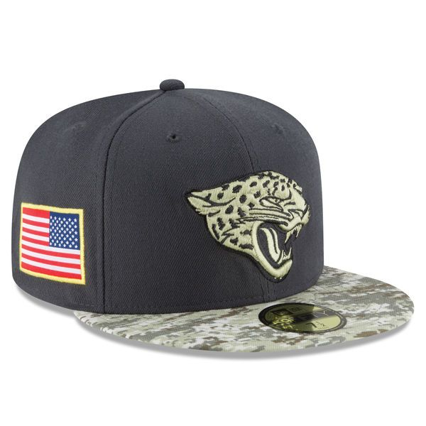 Jacksonville Jaguars New Era Youth Salute To Service Sideline 59FIFTY  Fitted Hat - Graphite Camo 78be79405