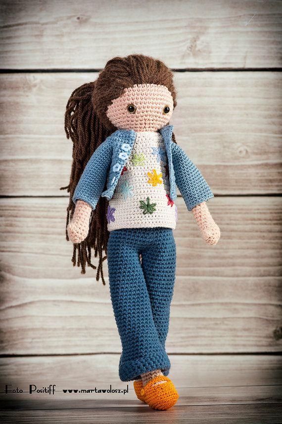 Puppe Häkelanl Wendela von CrochetDollsFactory auf Etsy