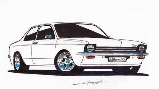 Resultado De Imagem Para Desenho De Chevette Desenhos De Carros