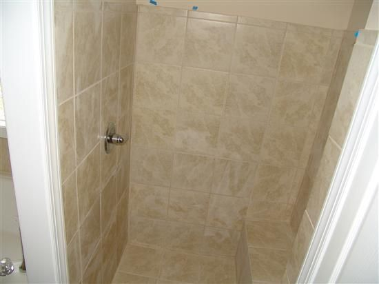 small stand up shower with a bench | reply re stand up shower pics ...