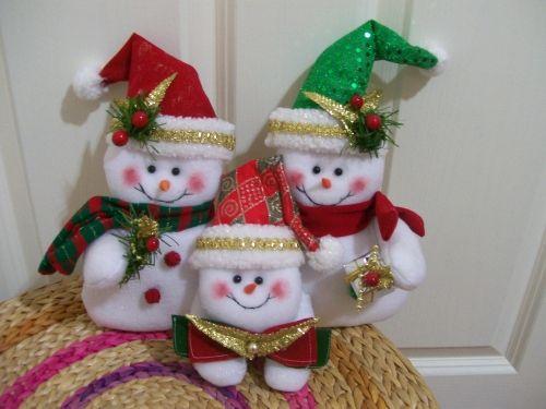 muecos de navidad en tela patrones imagui