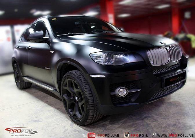 E71 Bmw X6 Semi Matte Black Wrap With Images Bmw X6 Matte