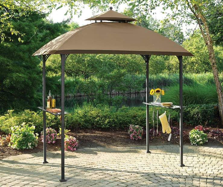 Wilson Fisher Windsor Grill Gazebo 8 X 5 Big Lots Grill Gazebo Diy Gazebo Outdoor Backyard