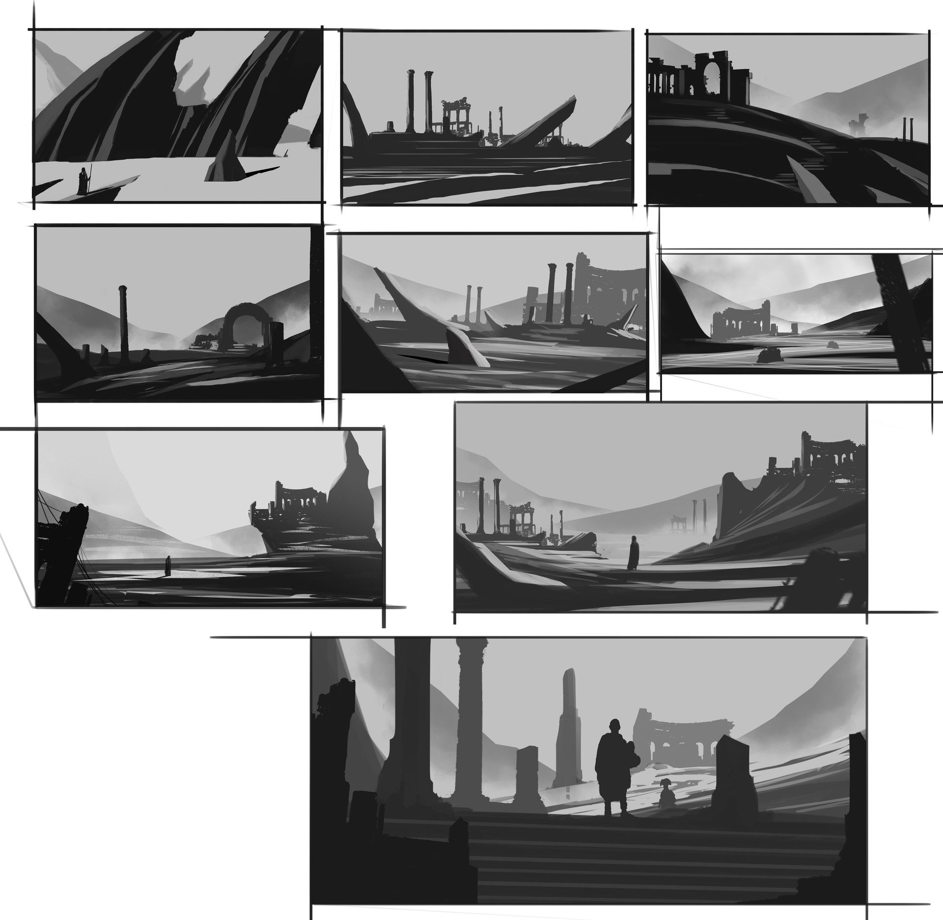 Landscape Lighting Classes: Composition And Lights , Demo Class Sketch