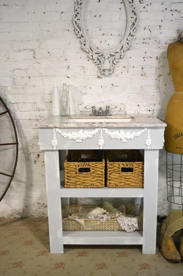 Etsy Painted Cottage Chic Shabby Romantic Farmhouse Bathroom Vanity and  Sink (scheduled via http: