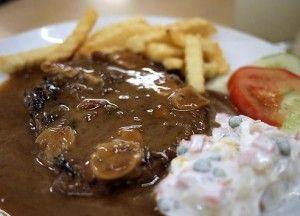 Resep Sirloin Steak Dengan Saus Mushroom Jamur Makanan Resep Makanan