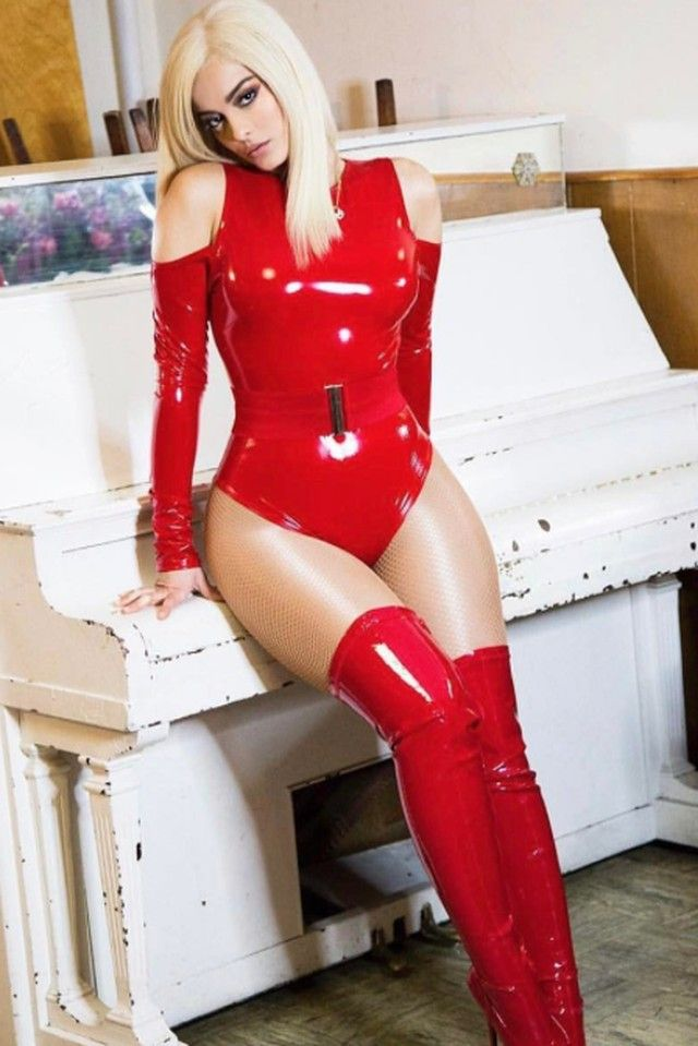 Bebe Rexha | Art | Bebe rexha, Latex catsuit, Leather, lace