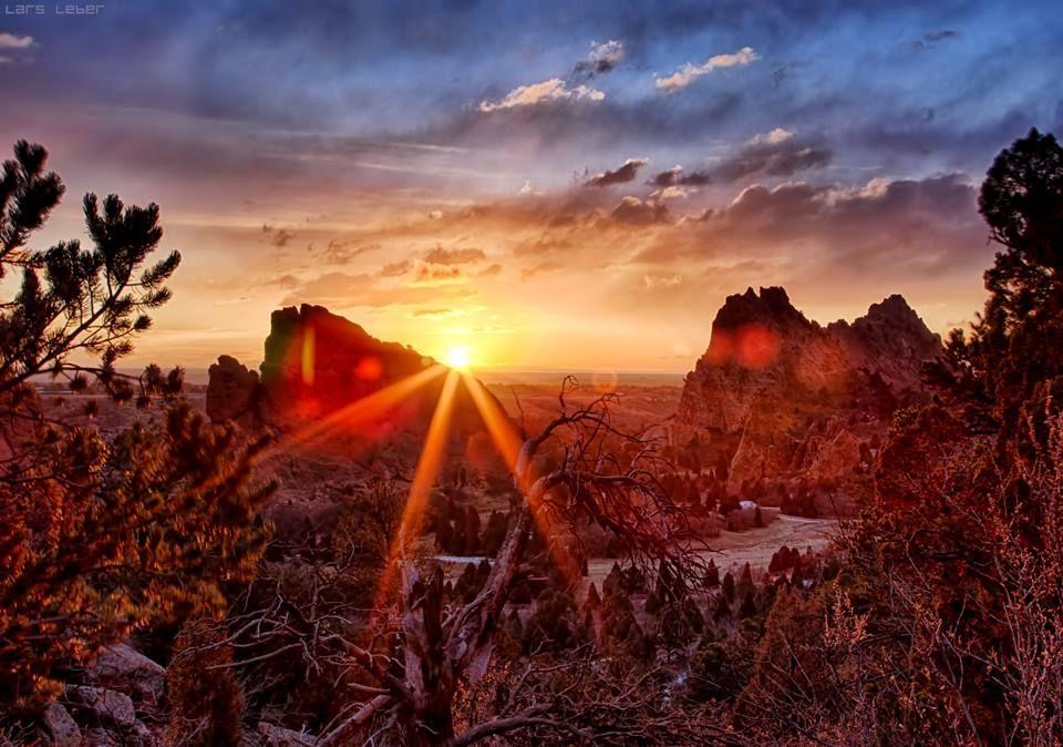 Garden of the Gods Sunrise. Colorado Springs, CO