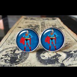 VINTAGE-RETRO SUPERMAN  www.kustomkufflinks.com   Find us at these as well:  http://www.bonanza.com/booths/Kustom_Kufflinks  http://www.rebelsmarket.com/rebel-store/kustom-kufflinks