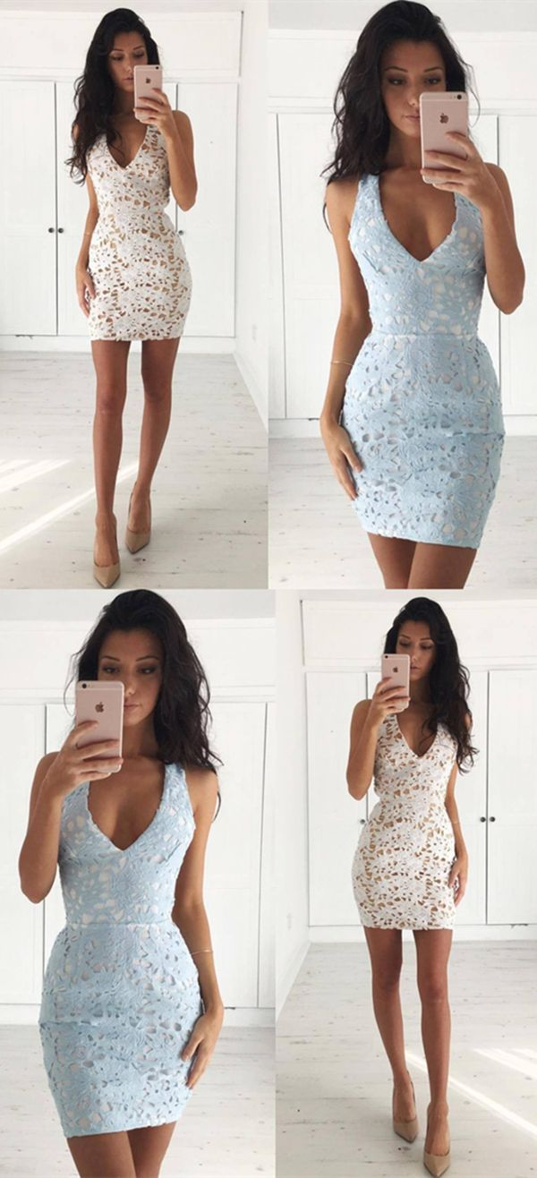 1844d85dc8a ivory lace homecoming dresses,short bodycon party dress,simple tight prom  gowns,ligh blue dresses
