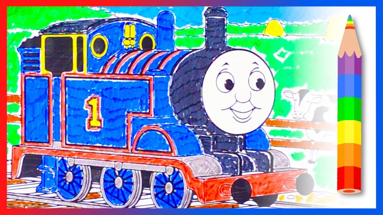 Coloring Thomas the Tank Engine - Learn Colors with Thomas and ...
