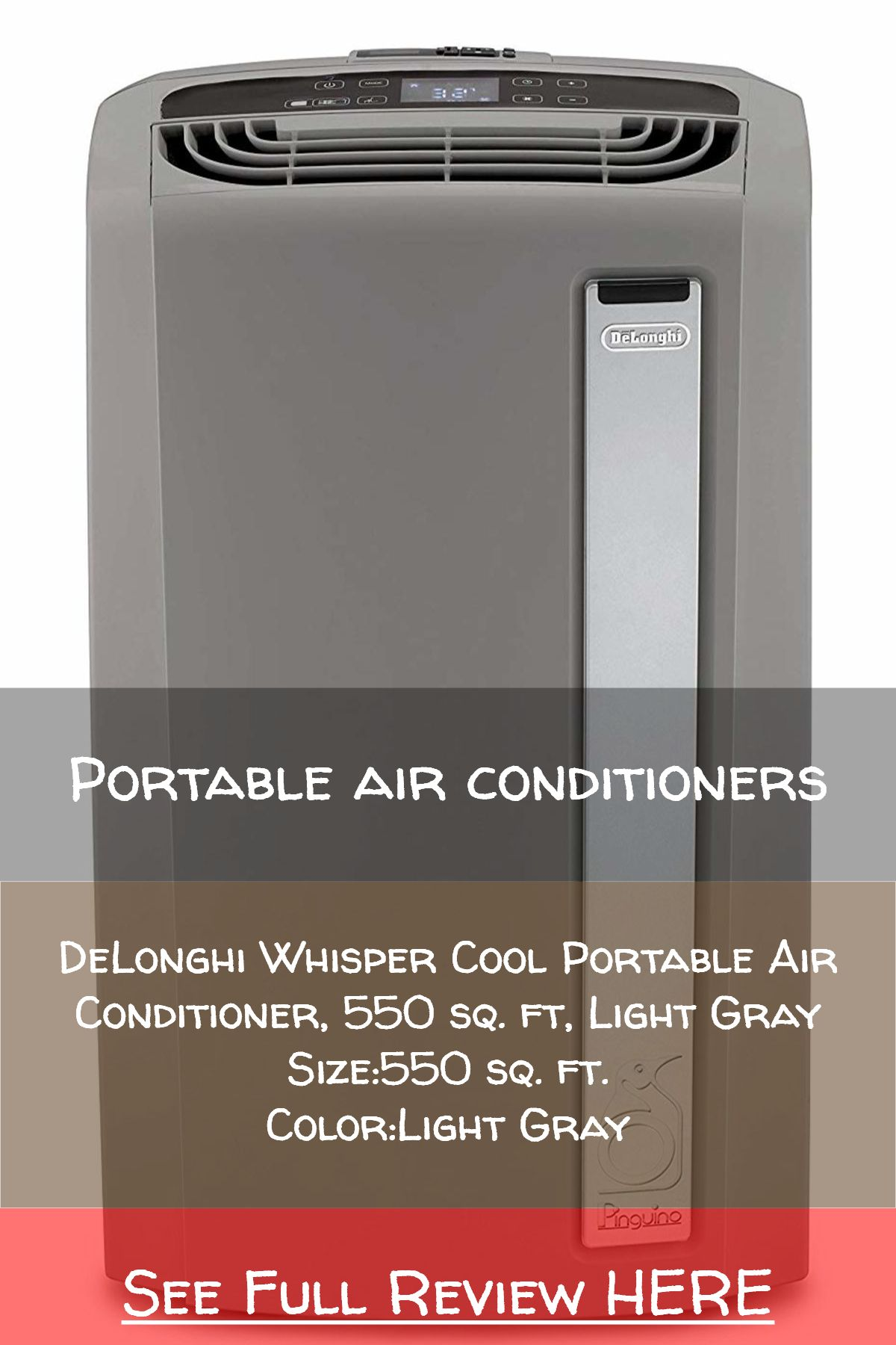Portable air conditioners / DeLonghi Whisper Cool Portable