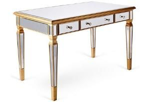 Eve Mirrored Desk, Gold $1049.00 by One Kings Lane