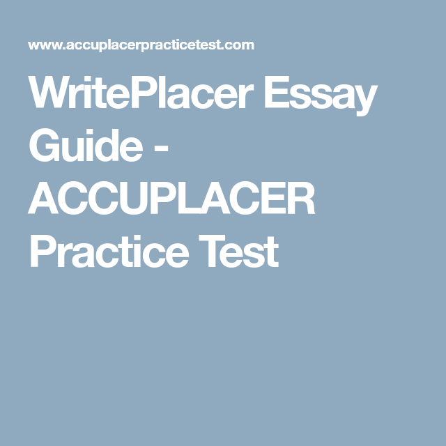Essay Example for ACCUPLACER