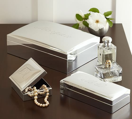 Engravable Silver Plated Jewelry Boxes