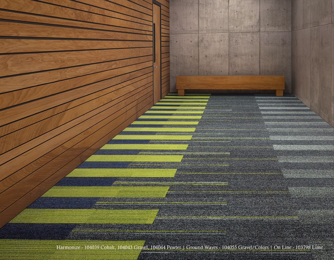 Harmonize ground waves interface carpet conceptual idea for areas drawn on floor plans - Sustainable carpet tiles ...