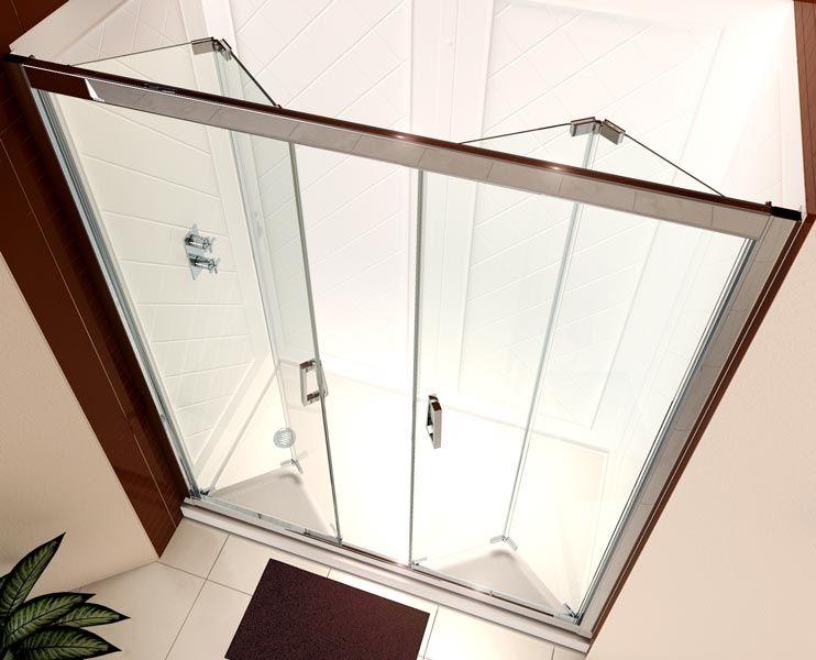 Butterfly frameless bi-fold door provides convenient wide walk-in ...