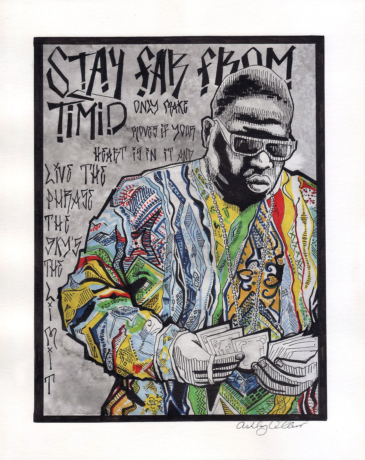 Notorious Big Wall Decal Quote Stay Far From Timid Only Make Moves