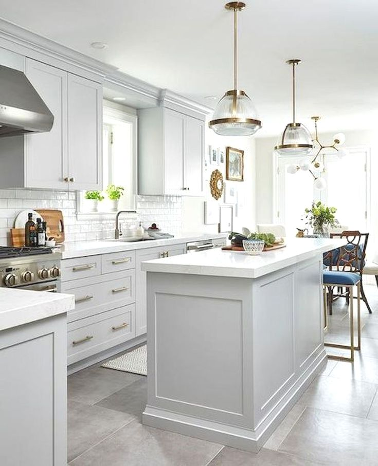 How to Make Best White Kitchen - New kitchen cabinets, White kitchen design, Kitchen renovation, Grey kitchen cabinets, Kitchen remodeling projects, Kitchen remodel - All white kitchens always have a white cabinet and white ceiling, haven't they  The white kitchen concept could be really special since everyone must agree with its beauty but only some who dare to…