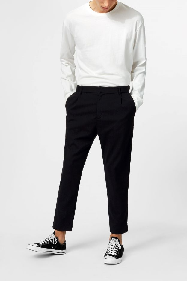 buy online b8ee8 ba701 Weekday image 2 of Mard Crepe Trousers in Black