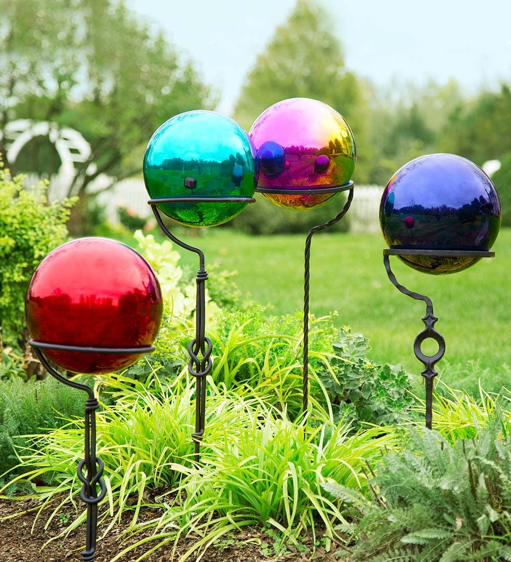 Stainless Steel Gazing Ball | Decorative Garden Accents | Glazing ...