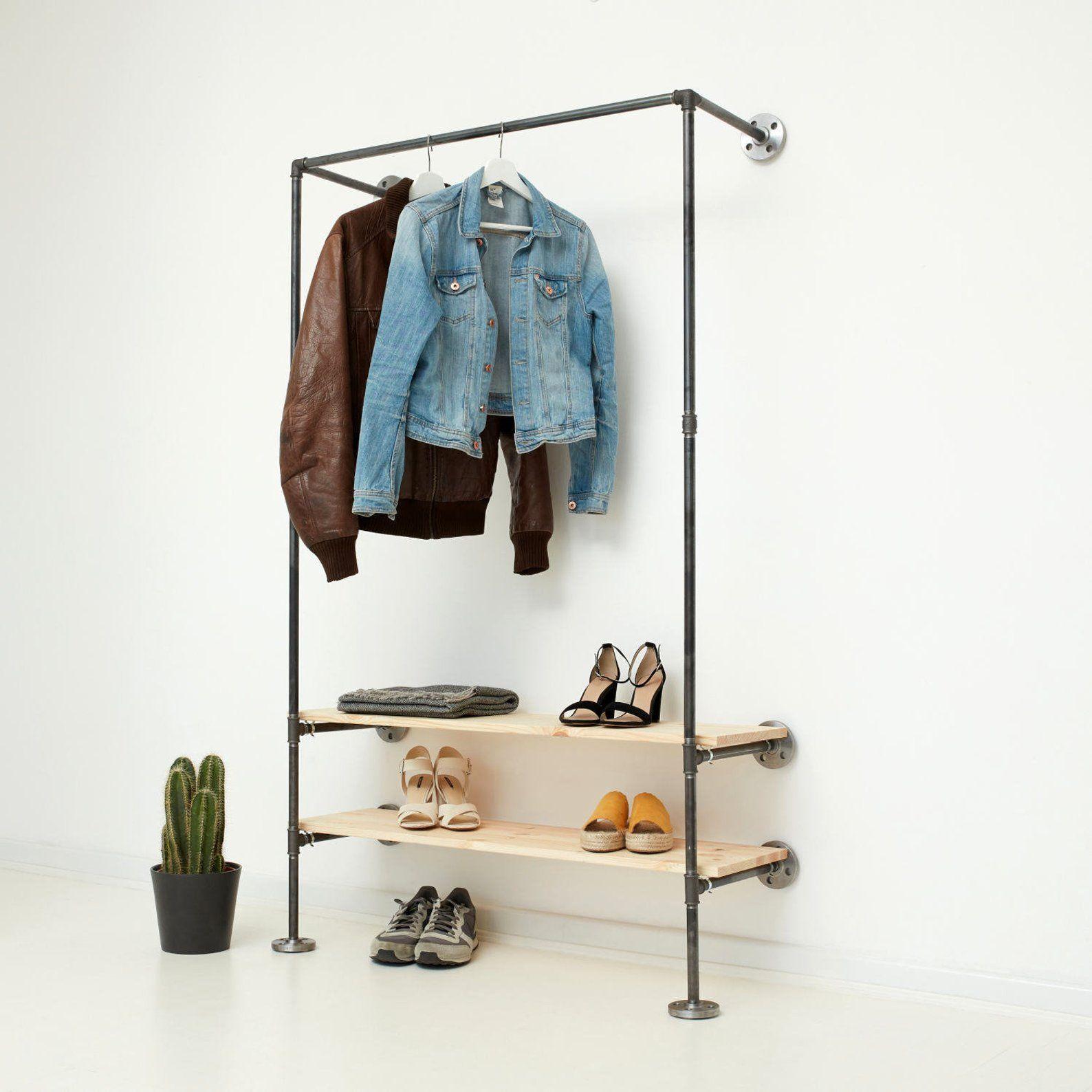industrial design diy open wardrobe