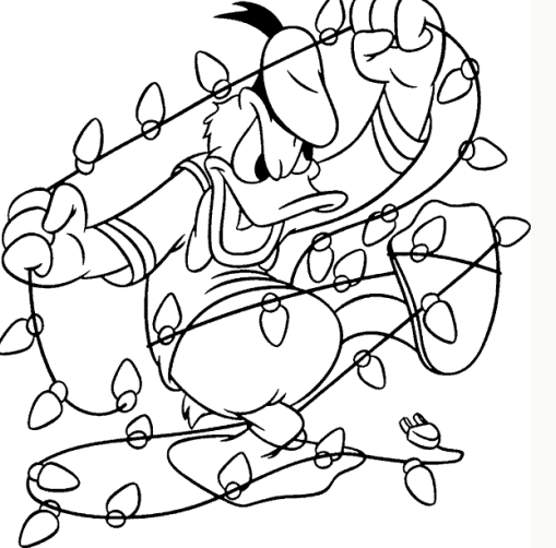 Donald Duck Christmas Coloring Sheet Christmas Coloring